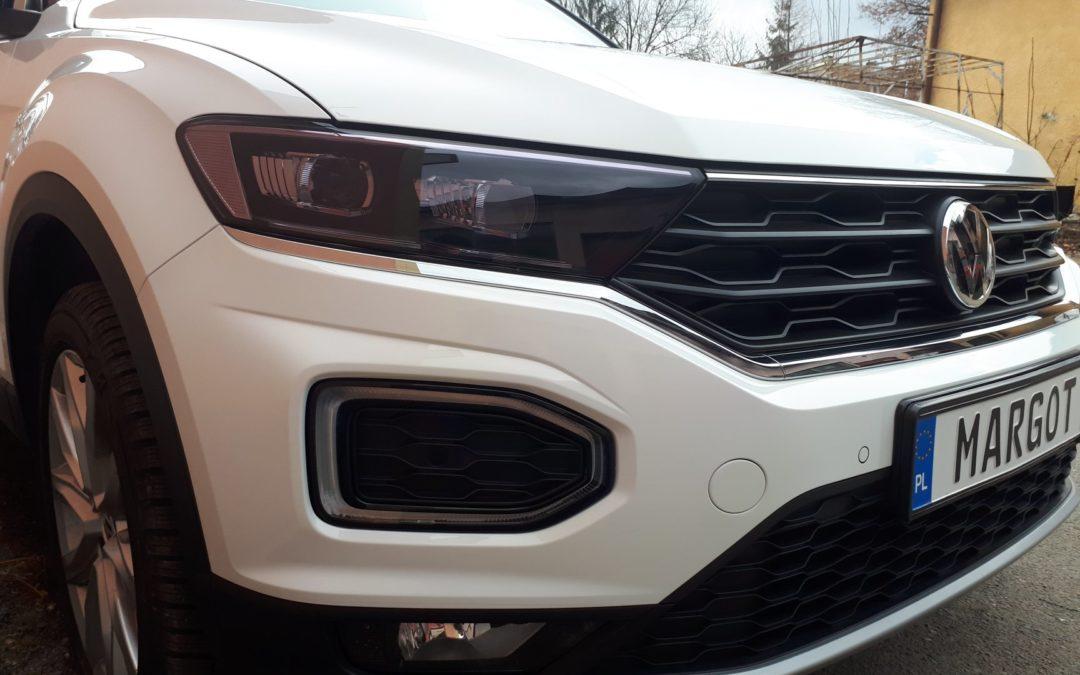 """Kilkudniowy VW T-Roc otrzymał od nas """"ubranko ochronne"""" w postaci bezbarwnej folii PremiumShield."""